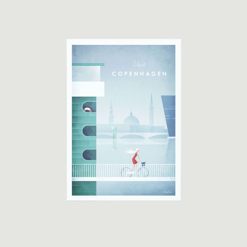 Travel Poster Copenhagen A2 - Travel Poster co