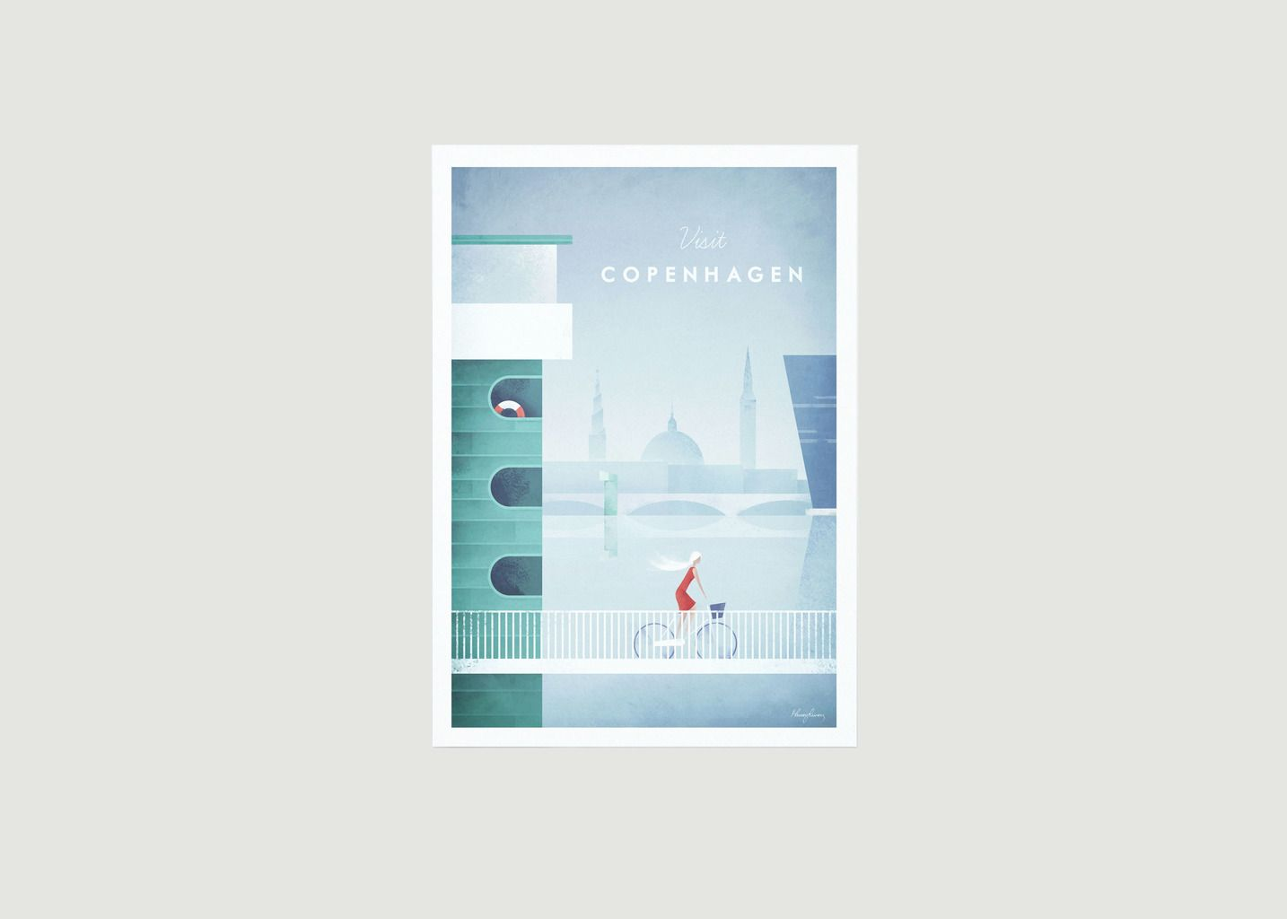 Travel Poster Copenhagen A2 - Travel Poster co
