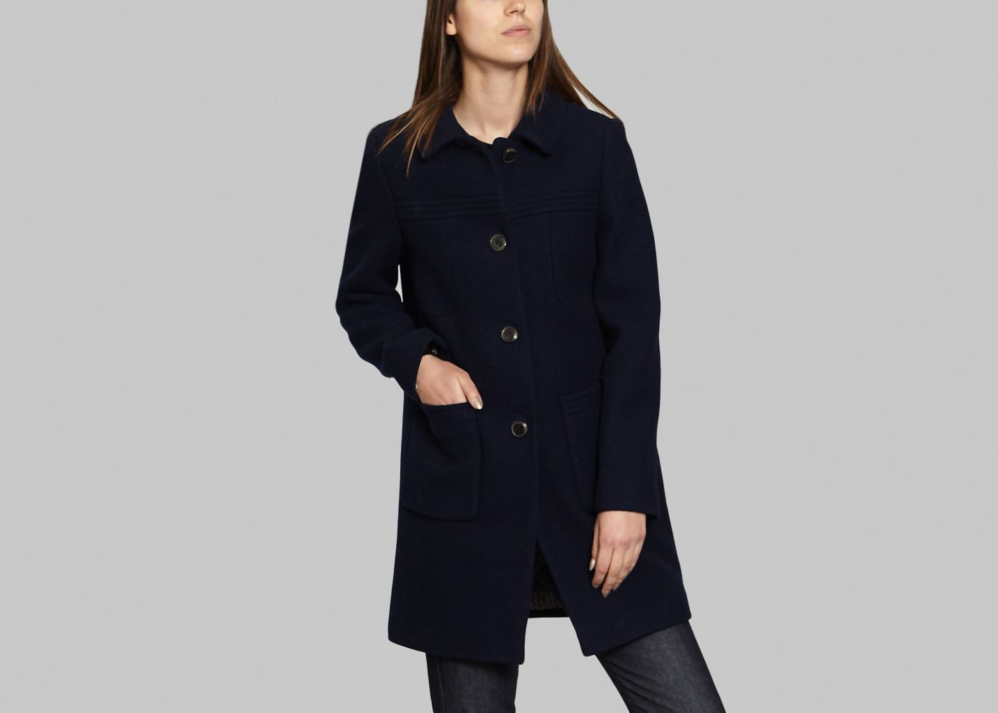And Bleu Marine Manteau Bowo Coat L'exception Trench w45HEInAH