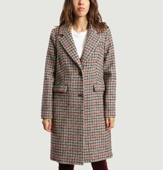 Borane Houndstooth Coat