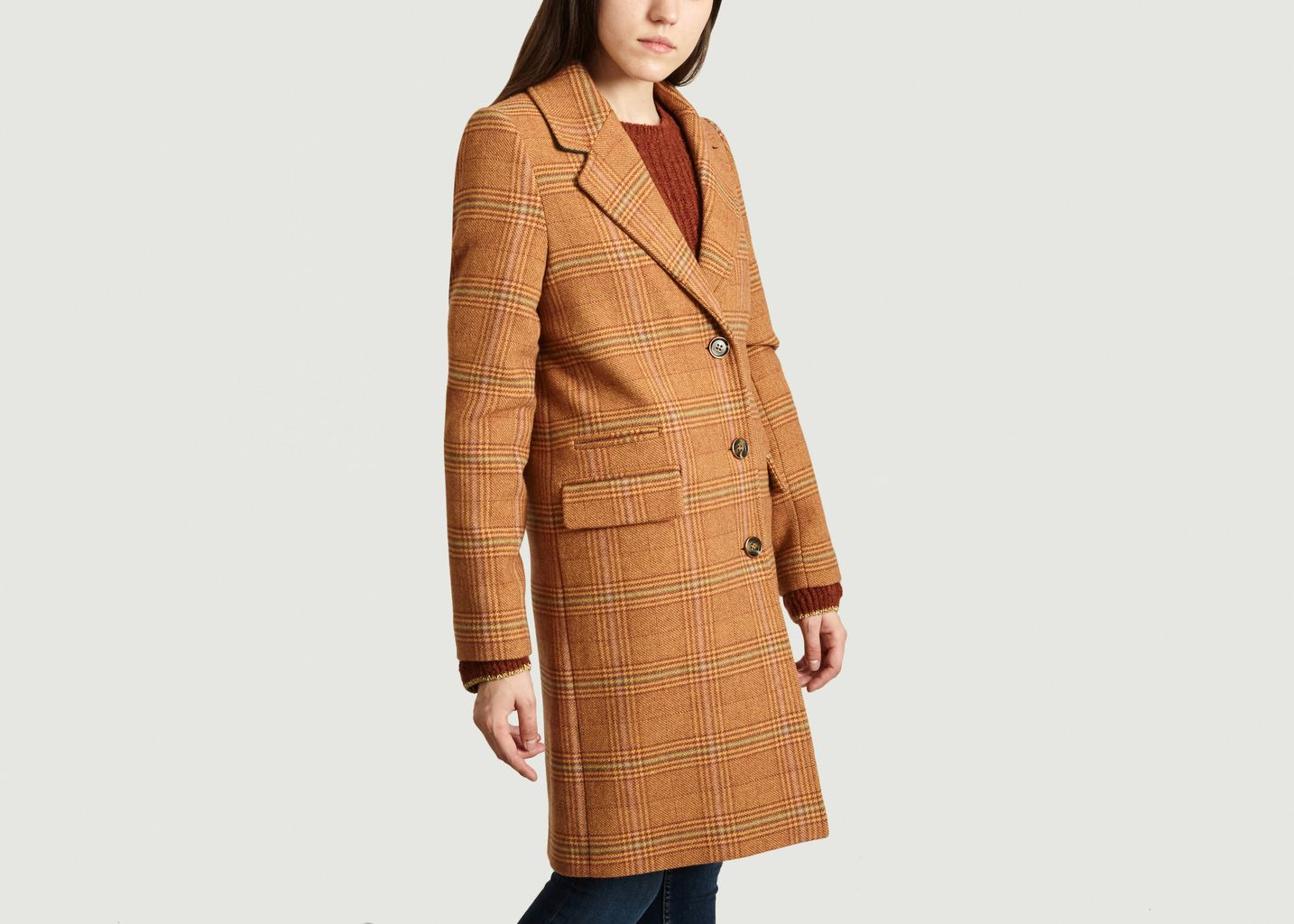 Manteau A Carreaux Ollieres - Trench And Coat