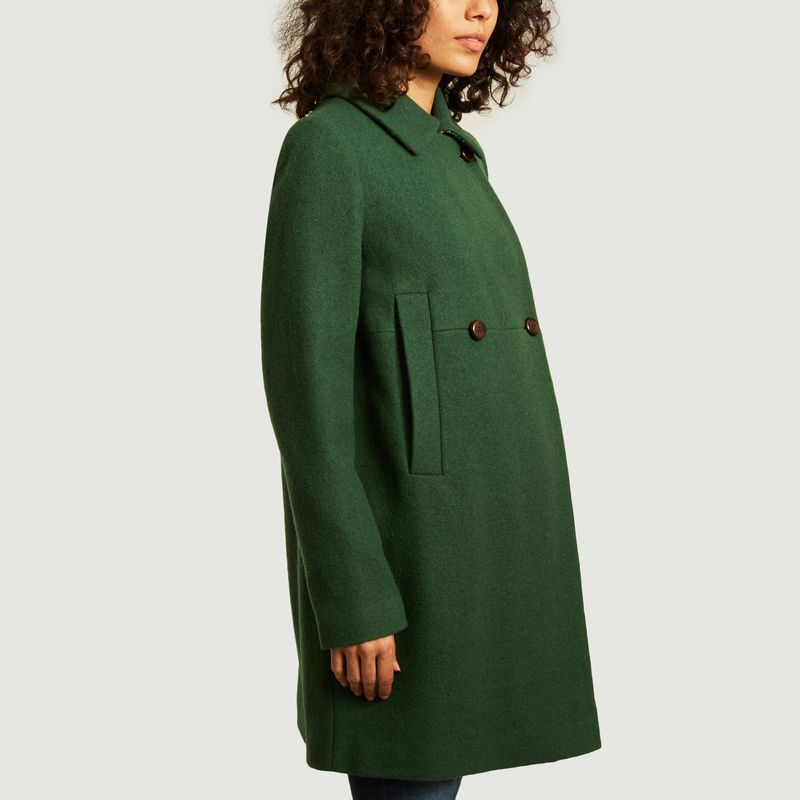 Manteau court Chantilly Vert - Trench And Coat