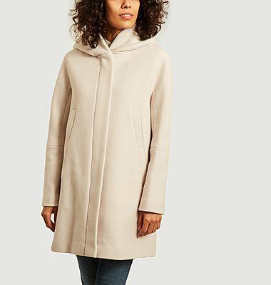 Manteau mi-long à capuche Berning