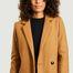 matière Manteau Vesoul en Laine  - Trench And Coat
