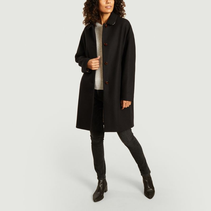 Manteau Chablis Noir - Trench And Coat