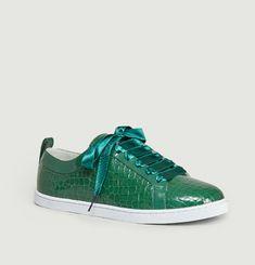 Sneakers En Cuir Effet Croco Boubou