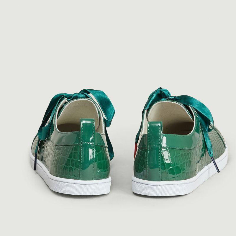 Sneakers En Cuir Effet Croco Boubou  - Twins For Peace