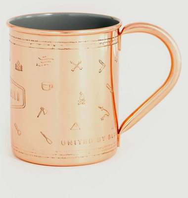 Tasse Into The Wild en Cuivre et Porcelaine