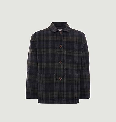 Simple Bakers checked woolen jacket
