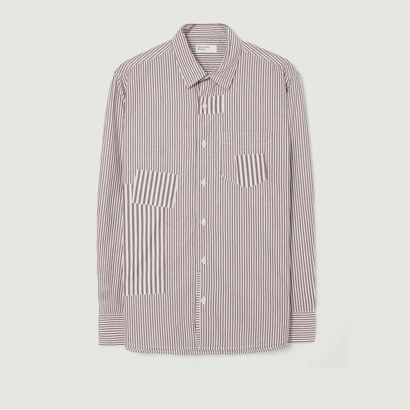 Chemise patch rayée - Universal Works