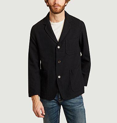 Woolen 3-buttoned jacket