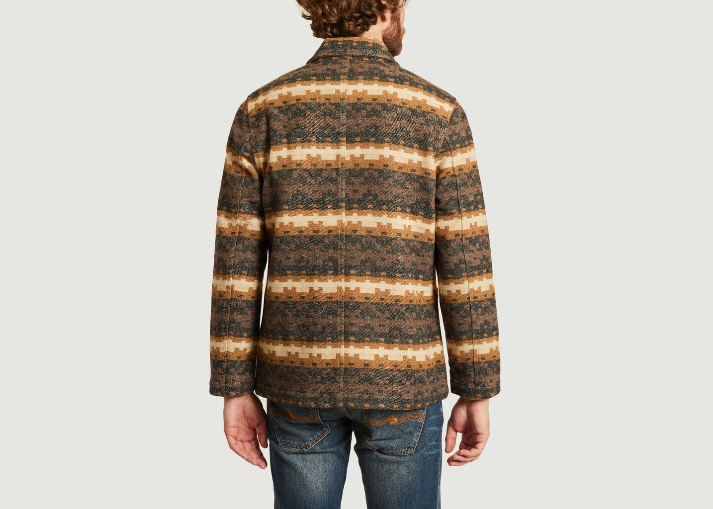 Veste en lainage à motif Bakers Chore Urban Mex - Universal Works