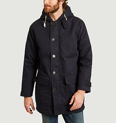 Hooded lined parka