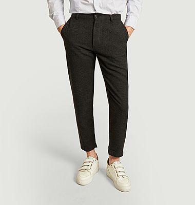 Pantalon chino militaire 7/8e en lainage