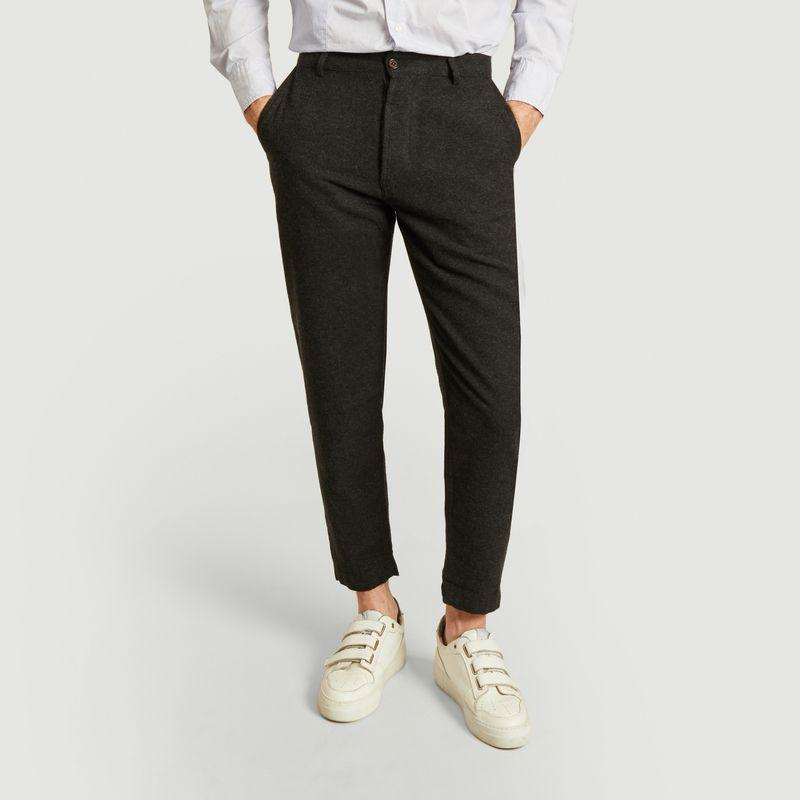 Pantalon chino militaire 7/8e en lainage - Universal Works