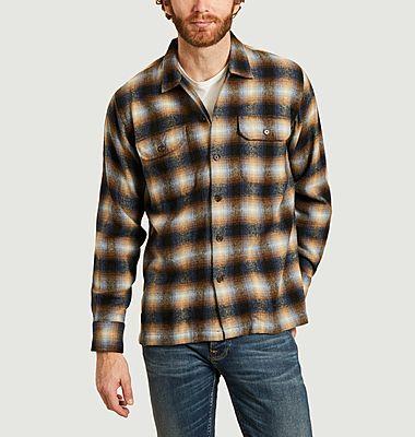 Chemise utilitaire à carreaux en lainage Texas