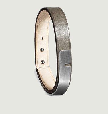 U-Turn Simple Gun Leather Bracelet