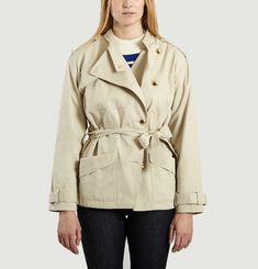 Burt Cropped Trench Coat