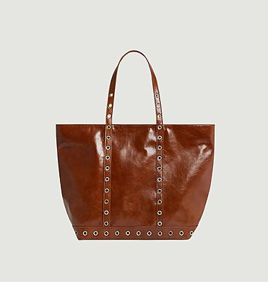 Tote Bag L Zipped Leather