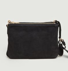 A Suede Zip Clutch
