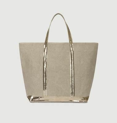 Medium + linen tote bag