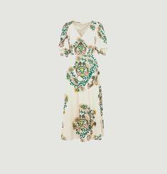 Nur printed long dress