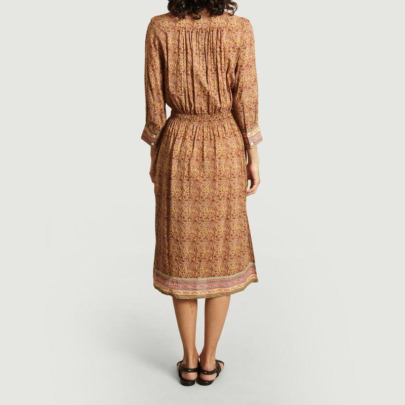 Ilko Long Printed Dress Ochre Vanessa Bruno L Exception