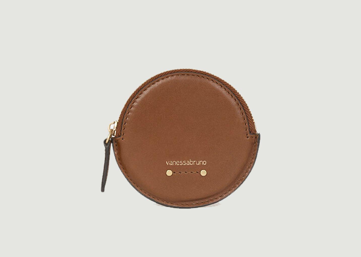 Porte-monnaie rond en cuir - Vanessa Bruno