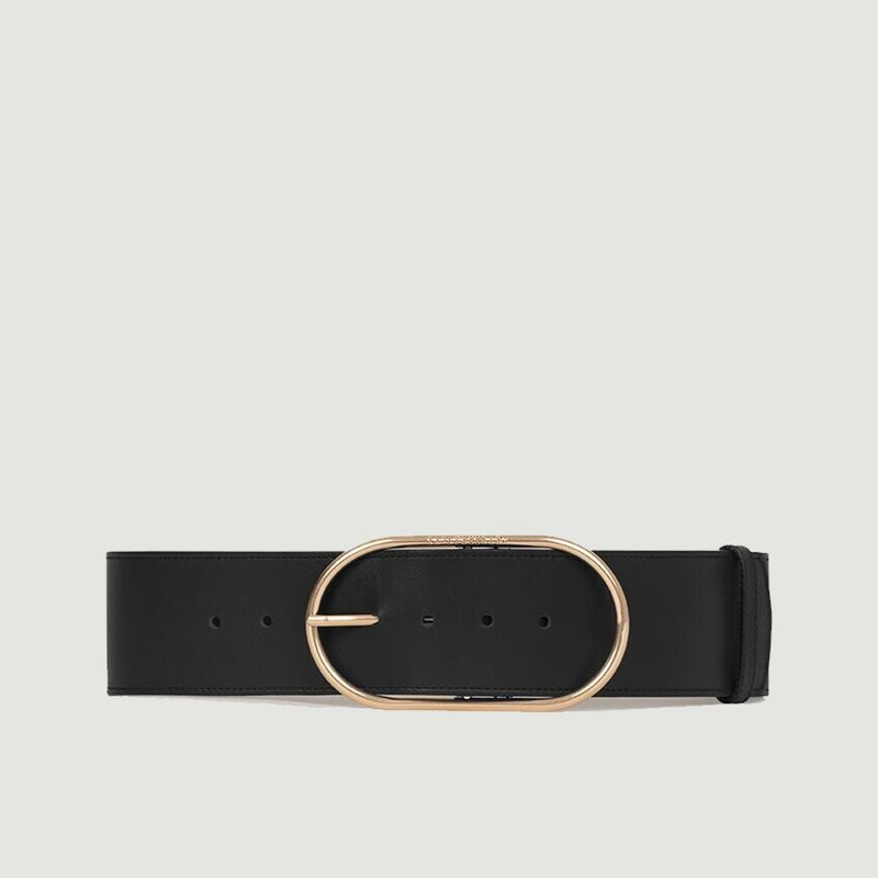Grande ceinture en cuir à boucle ovale  - Vanessa Bruno