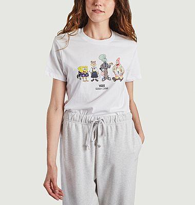 T-shirt Sandy Liang for Vans x Spongebob