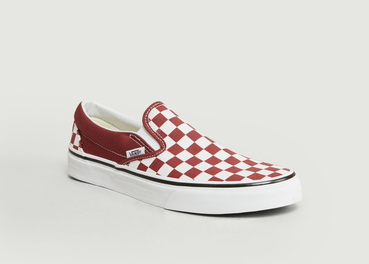 vans slip on carreaux rouge