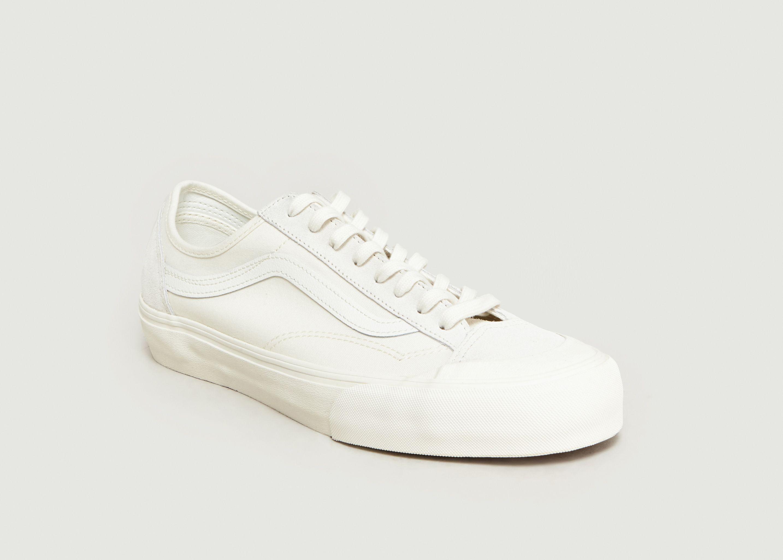 e2a657f7c23db8 Sneakers En Daim Et Toile Style 36 Decon SF Ecru Vans