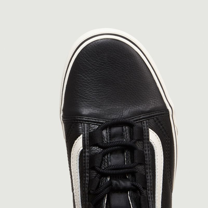 Sale Ghillie Old Skool Leather Low Tops Black Vans at 40
