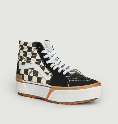 Sneakers Checkerboard Stacked Sk8-Hi Tapered