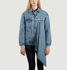 Asymmetric Denim Jacket