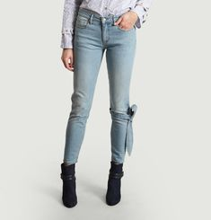 Jeans Slim 7/8 Noeud