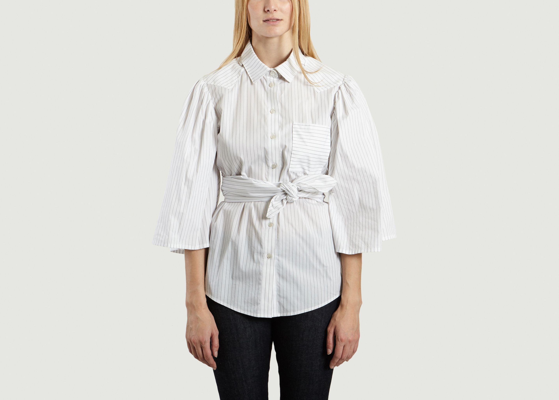 4c0a82ad07db29 Striped Full Shirt White VICTORIA/TOMAS | L'Exception