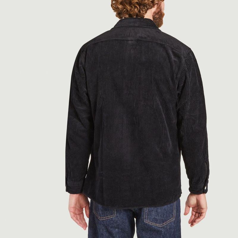 Surchemise noire en velours côtelé  - Wax London