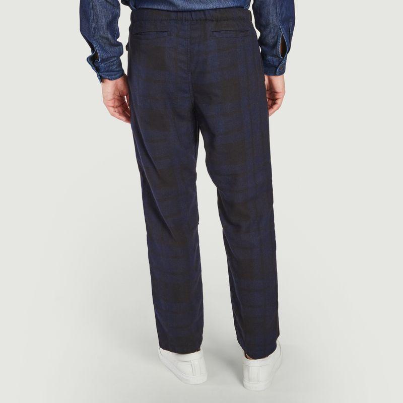 Pantalon tartan en bleu marine  - Wax London