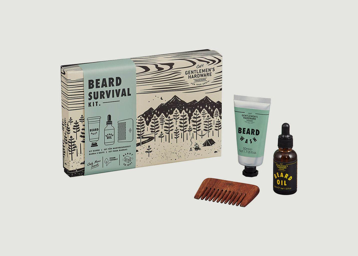 Kit de survie pour barbe - Wild & Wolf