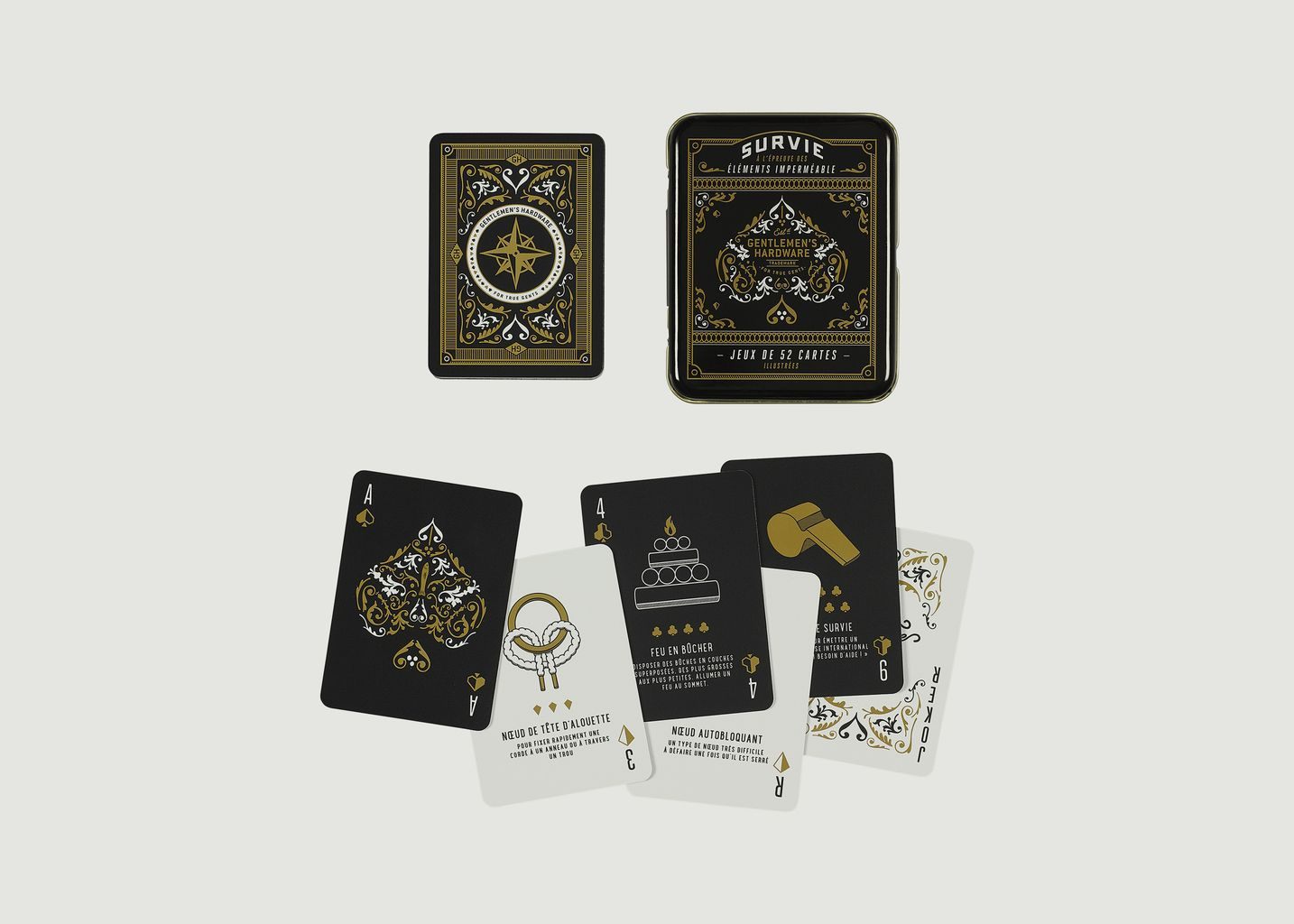 Survival Playing Cards French - Wild & Wolf