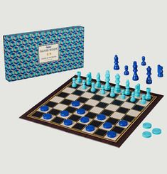Chequers & Chess Game Set