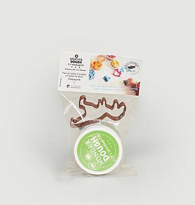 Dinosaur Birthday Set ( 1 jar of green model dough and a dinosaur cookie cutter )