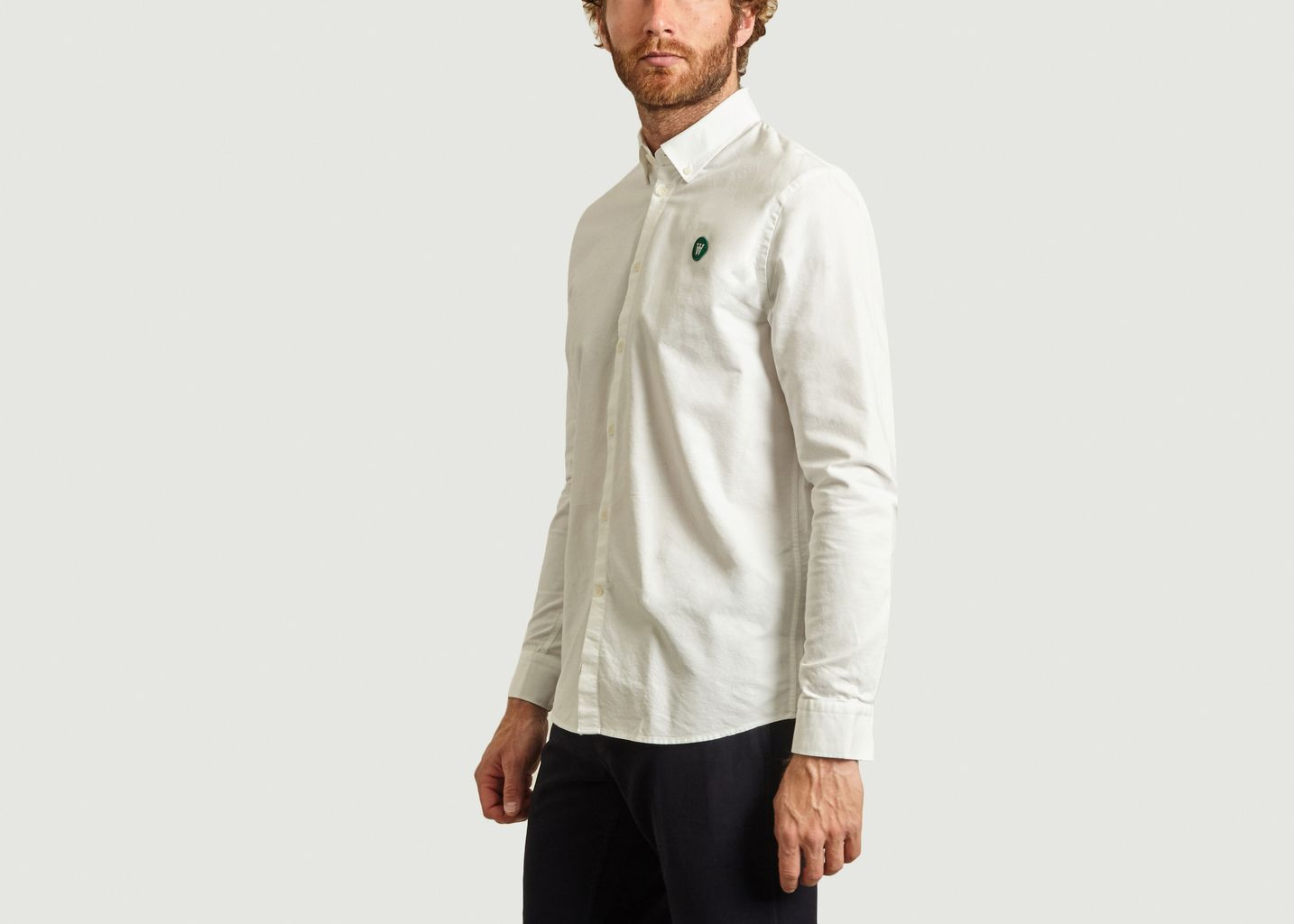 Chemise en coton Oxford Double A Ted - Wood Wood