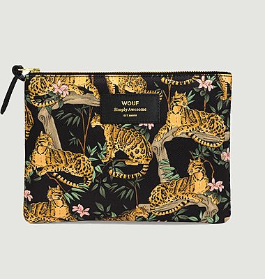 Grande Pochette Black Lazy Jungle