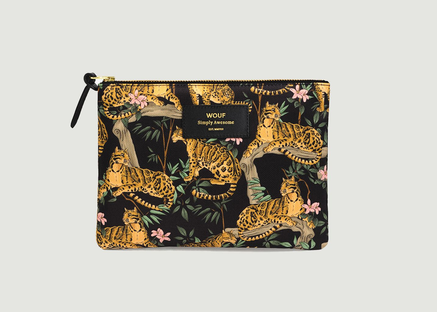 Grande Pochette Black Lazy Jungle - Wouf