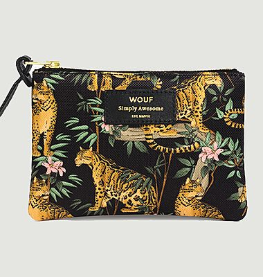 Petite Pochette Black Lazy Jungle
