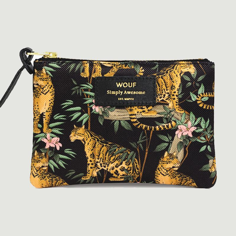Petite Pochette Black Lazy Jungle - Wouf