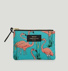 Petite Pochette Flamingos