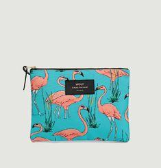 Pochette Large Flamingos